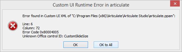 Error Found in Custom UI XML - Articulate Support