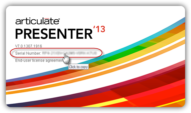 Presenter \'13: How to Find Your Serial Number - Articulate Support