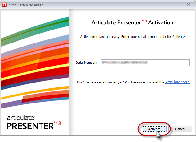 How to Activate Articulate Presenter \'13 - Articulate Support